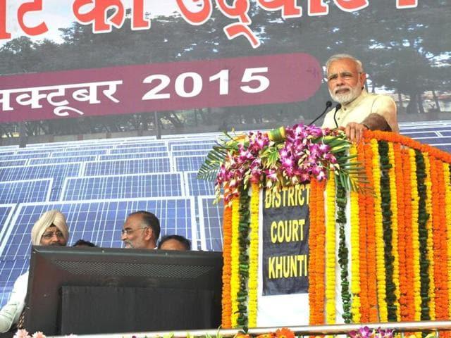 Narendra Modi,carbon emissions,Khunti