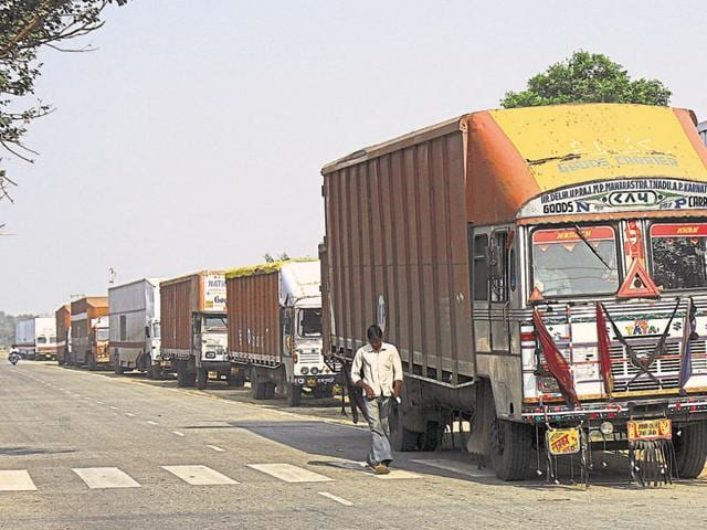 Industries suffered as Noida transporters joined the strike.
