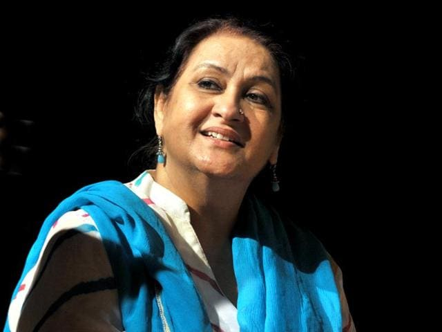Accomplished actor, theatre director turned playwright Nadira Zaheer Babbar  at Tagore Theatre, Chandigarh on Friday