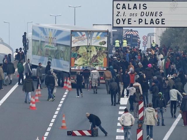 Migrant Crisis,Channel Tunnel,Calais Port