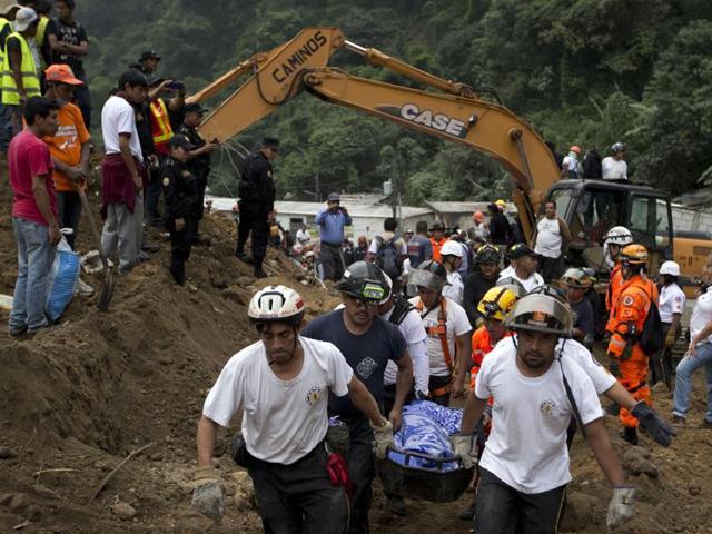 Guatemala city,Landslide,Natural calamity