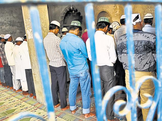 The Friday namaz at Bisada's sole mosque saw only 36 people turn up. The mosque usually sees about 80 people offer prayers on Fridays.