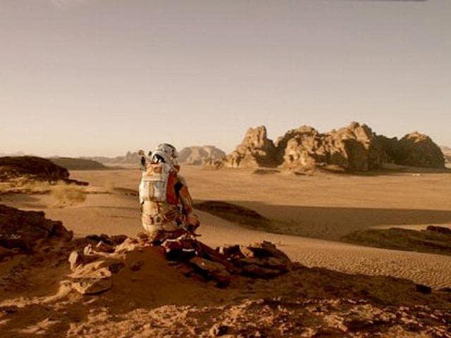 Matt Damon is Robinson Crusoe in space in Ridley Scott's The Martian. (20th Century Fox)