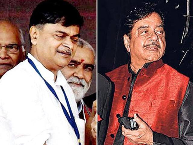 RK Singh (left) and Shatrughan Sinha (right) had earlier raised questions at the BJP leadership.