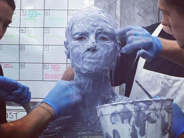 Heidi Klum got herself in a body cast for her next Halloween costume.