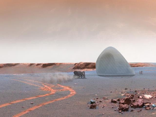 Mars,NASA,3D printed ice shelter