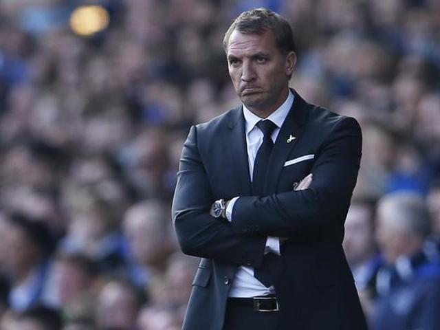Liverpool manager Brendan Rodgers during their game  against Everton on Sunday.