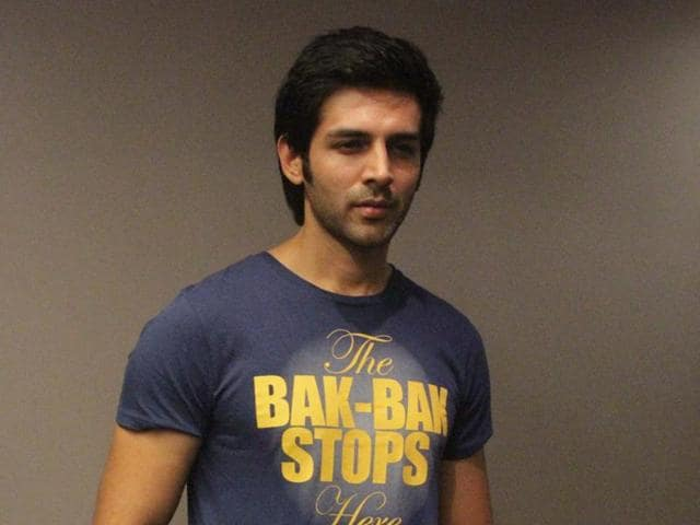 Kartik Aaryan during the promote of his upcoming film Pyaar Ka Punchnama 2 in Gurgaon on September 17.