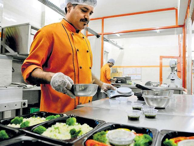 TLC prepares and delivers its meals from its kitchen in Okhla in New Delhi.