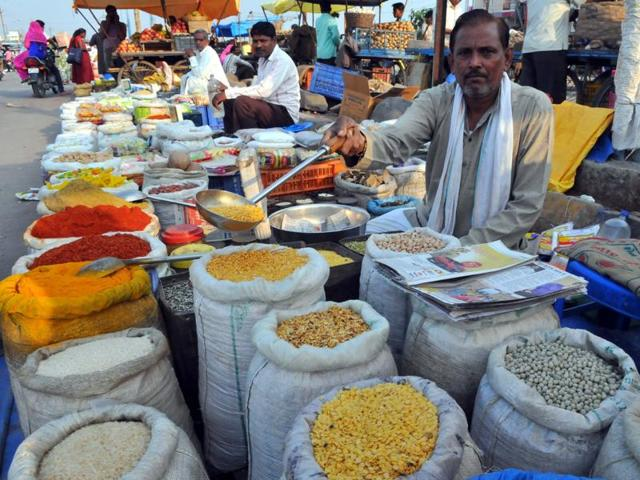 The prices of pulses have gone up in past few days due to low arrivals.
