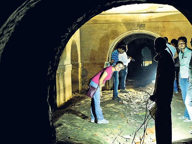 Inner chambers on either sides of the tunnel are being examined to make further discoveries.