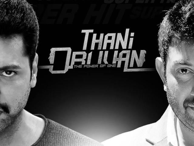 Thani Oruvan is a stylish thriller about the face-off between a righteous policeman and a rich, conniving entrepreneur.
