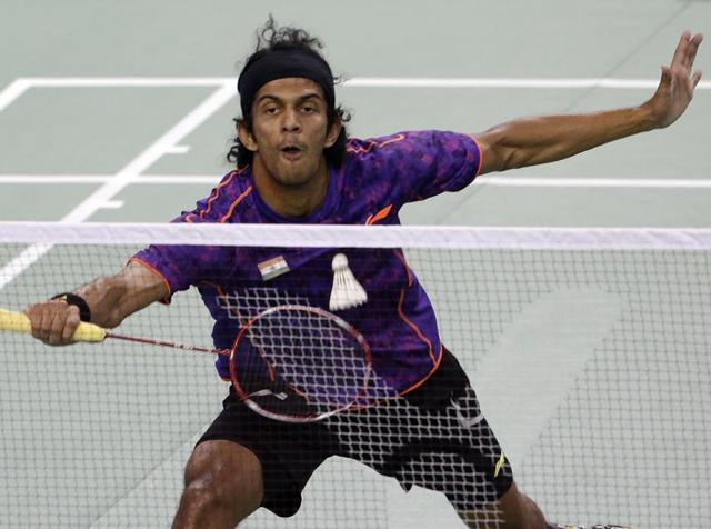 India's Ajay Jayaram during the men's singles final against China's Chen Long at the Korea Open final in Seoul, on September 20, 2015.