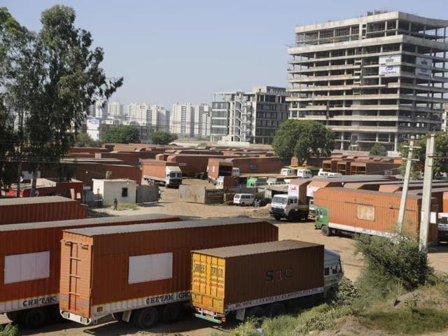 Truckers strike,Gurgaon,haryana