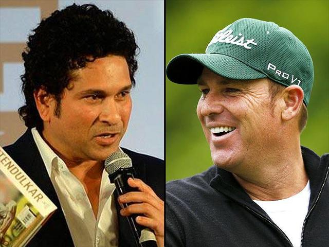 A composite photograph of Sachin Tendulkar and Shane Warne.