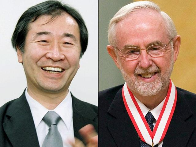 Takaaki Kajita of Japan and Arthur McDonald of Canada won the Nobel Prize in Physics on Tuesday for discovering that subatomic particles called neutrinos change identities as they whiz through the universe, proving that they have mass.