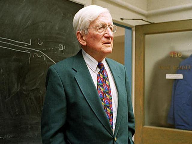 File photo of 1989 Nobel Physics Prize winner Norman Ramsey