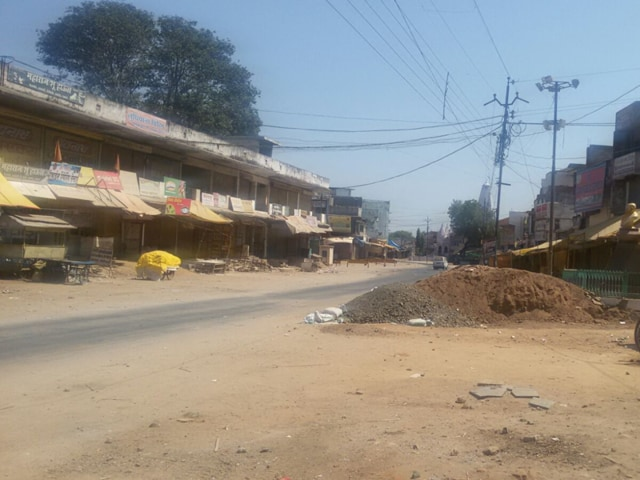 There was no relaxation in curfew in Barghat on Tuesday.