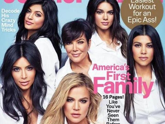 The Kardashian, Jenner family on the cover of Cosmopolitan.
