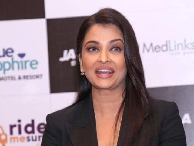 Aishwarya Rai Bachchan at a promotional event in New Delhi .(IANS PHOTO)