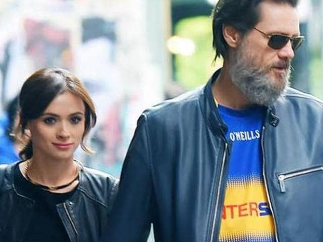 Jim Carrey with Cathriona White. The Hollywood funnyman had been dating White for a few months before her death.