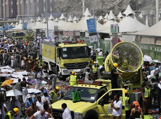 External affairs minister Sushma Swaraj has tweeted that the toll of Indians dead during the September 24 Haj stampede is now 74.