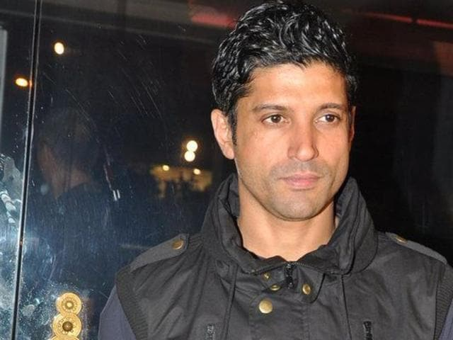 Bollywood actor Farhan Akhtar.