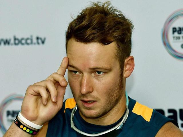 South Africa's David Miller during a press conference in Kolkata ahead of the third T20 against India, on October 7, 2015.