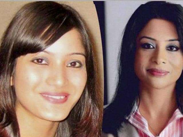 A combination photo of Indrani Mukerjea and her daughter Sheena Bora (L).