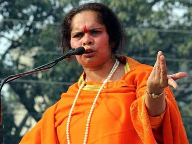 """The FIR was registered against Sadhvi Prachi based on a complaint lodged by Sandeep Kumar of Bahujan Mukti Morcha who alleged that her statement in which she had pitched for a """"Muslim free country"""" in Uttrakhand recently, hurt communal feelings, they said."""