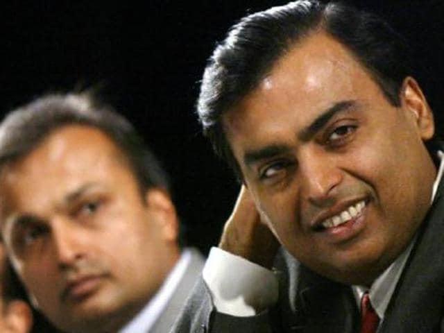 Mukesh and Anil Ambani.