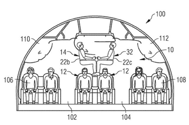 A seating arrangement proposed by Airbus.