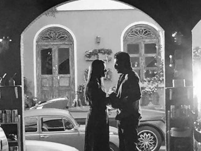 SRK, Kajol on the sets of Dilwale.