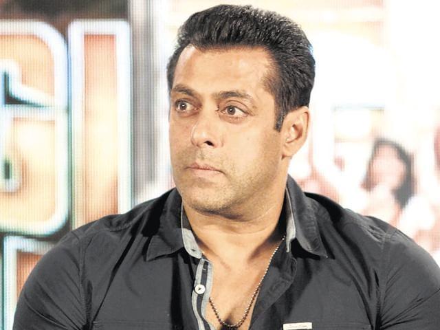 Salman Khan at a promotional event for Bajrangi Bhaijaan.
