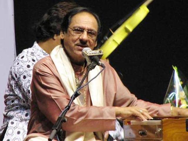 Legendary Ghazal singer Ustad Ghulam Ali.