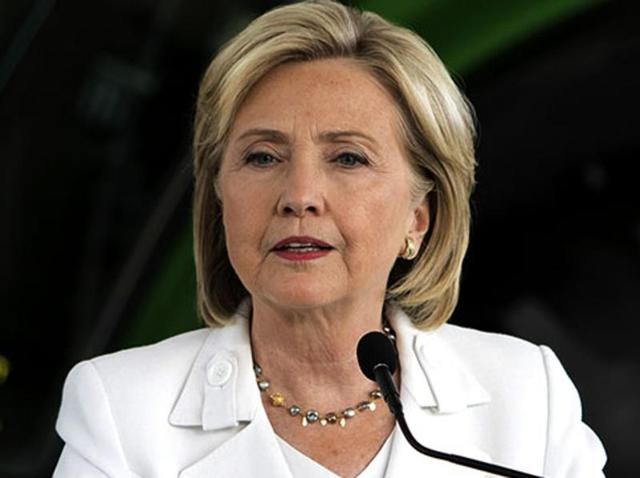A file photo of Democratic presidential candidate Hillary Clinton.