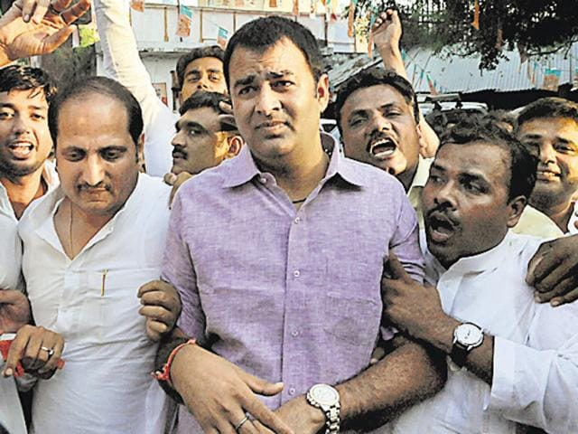BJP MLA Sangeet Som said he would quit politics if his role in the factory was proved.(HT Photo/Dheeraj Dhawan)