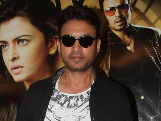 Irrfan Khan during the promotion of his upcoming film Jazbaa.