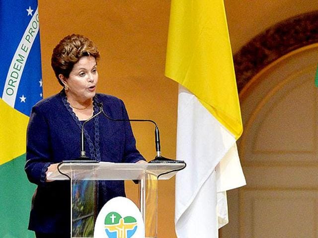 A file photo of Brazilian President Dilma Rousseff.