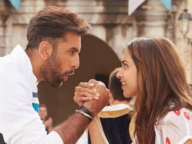 Deepika Padukone and Ranbir Kapoor in a still from Matargashti (Tamasha).