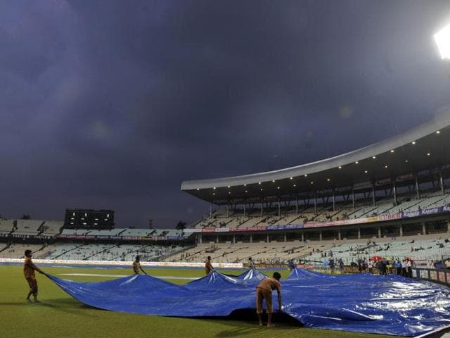 The third T20 match between India and South Africa was called off due to a soggy outfield at Eden Gardens in Kolkata, on October 8, 2015.