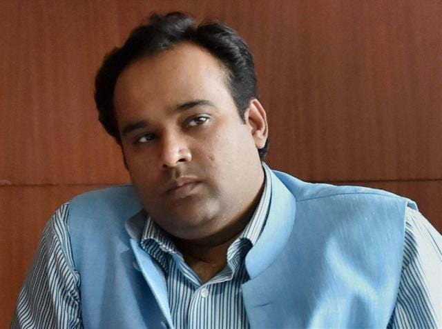 A file photo of Delhi food and civil supplies minister Asim Ahmed Khan, who was sacked  on Friday over corruption charges.