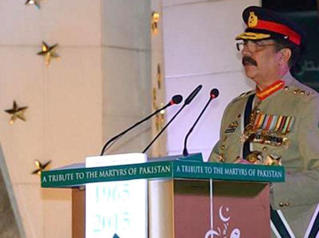 A combo photo of Pakistan prime minister Nawaz Sharif and Army chief Gen Raheel Sharif.
