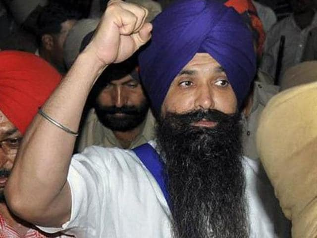File photo of Balwant Singh Rajoana, key accused in Punjab chief minister Beant Singh assasination case.