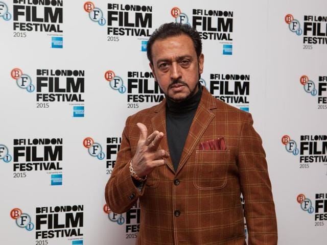 Actor Gulshan Grover poses for photographers upon arrival at the premiere of the film Beeba Boys, showing as part of the London Film Festival, Thursday, Oct. 8, 2015.