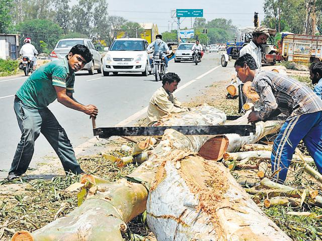 four-laning project,Chandigarh-Patiala road,project report