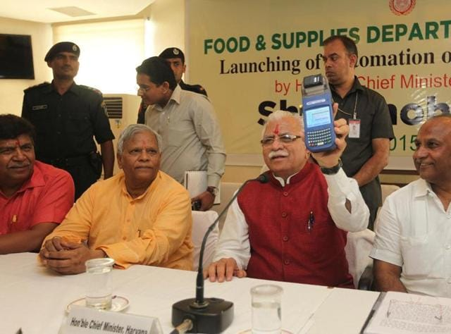 Manohar lal Khattar,automation,fair price shops