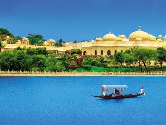 That's how you do it: The Oberoi Udaivilas, on the banks of Lake Pichola in Udaipur, Rajasthan, consistently ranks as one of the world's best .