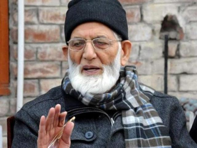 File photo of Hurriyat leader Syed Ali Geelani.  Geelani has been invited to visit Pakistan by prime minister Nawaz Sharif.