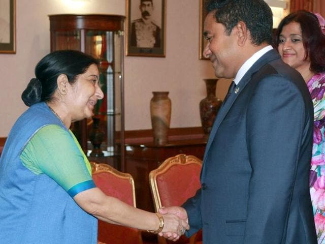 India,Maldives,Sushma Swaraj